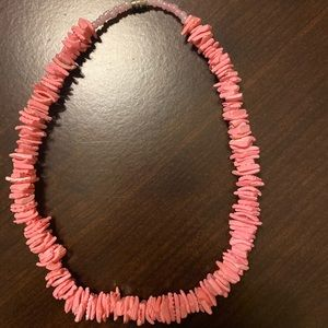 vsco pink puka shell necklace